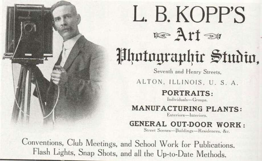 The Kopp Photography Studio was located at Seventh and Henry Streets in Alton, and was the place where many formal group pictures were taken, including confirmation classes from all of the churches. Brides brought their whole wedding parties there, and families were pictured in their Sunday best. Portraits of the famous and otherwise were taken by the German gentleman. A grocery store, laundry and flower shop have successively used the building on the southeast corner. Photo: File Photo