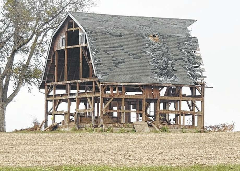 This barn west of Winchester has more than just its barn door open.