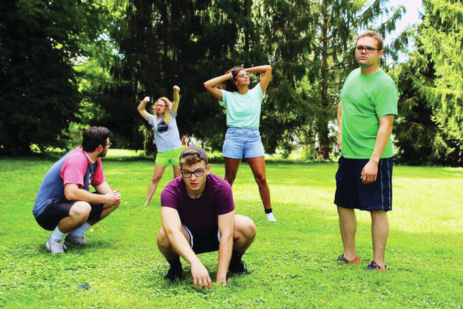 Members of the Let's Make Up improv troupe — John Love (from left), Hope Cherry, Brandon Coniglio, Erin Washington and Nate Saint —will perform Sunday at Playhouse on the Square in Jacksonville. Photo: Submitted Photo