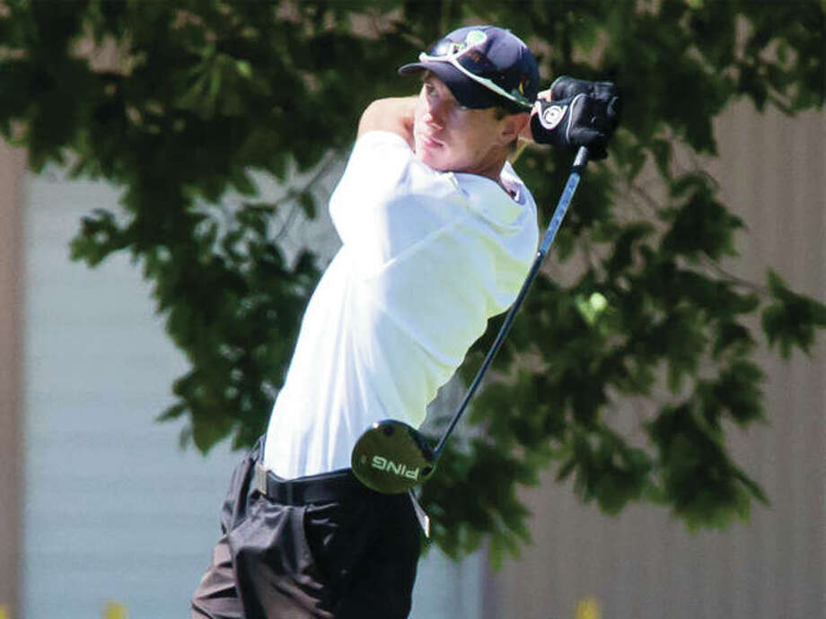 Edwardsville senior Tanner White, shown in the Madison County Tournament on Aug. 18 at Belk Park in Wood River, shot a 69 to place second in the Dick Gerber Invite on Friday at Oak Brook golf course in Edwardsville. Photo: Nathan Woodside / For The Telegraph