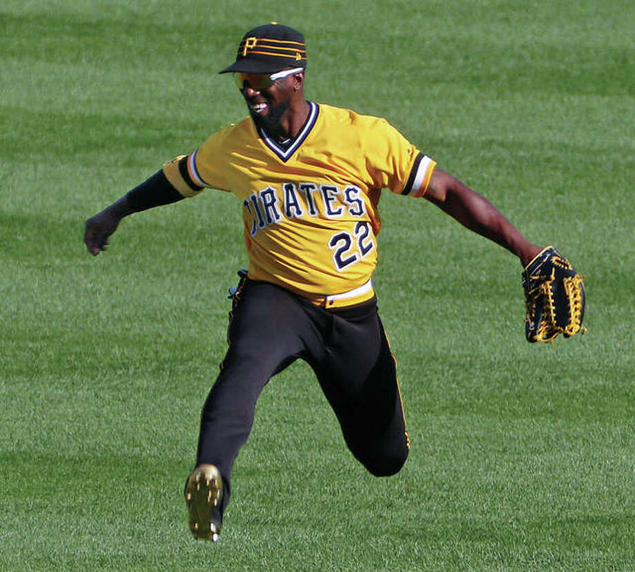 The Pirates' Andrew McCutchen reacts after Sunday's 4-1 win over the Cardinals in Pittsburgh. Photo: Associated Press