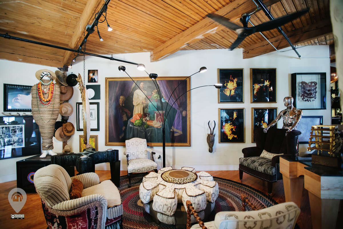 Amen's loft is filled with furniture he designed and art he has collected throughout his life.