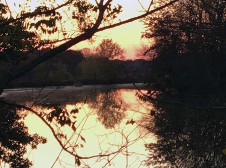 The setting sun creates a golden appearance at the Murrayville reservoir. Photo: Joy Harris | Reader Photo