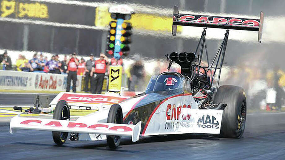 Steve Torrence won the AAA Insurance NHRA Midwest Nationals on Sunday at Gateway Motorsports Park for his eighth victory of the season.