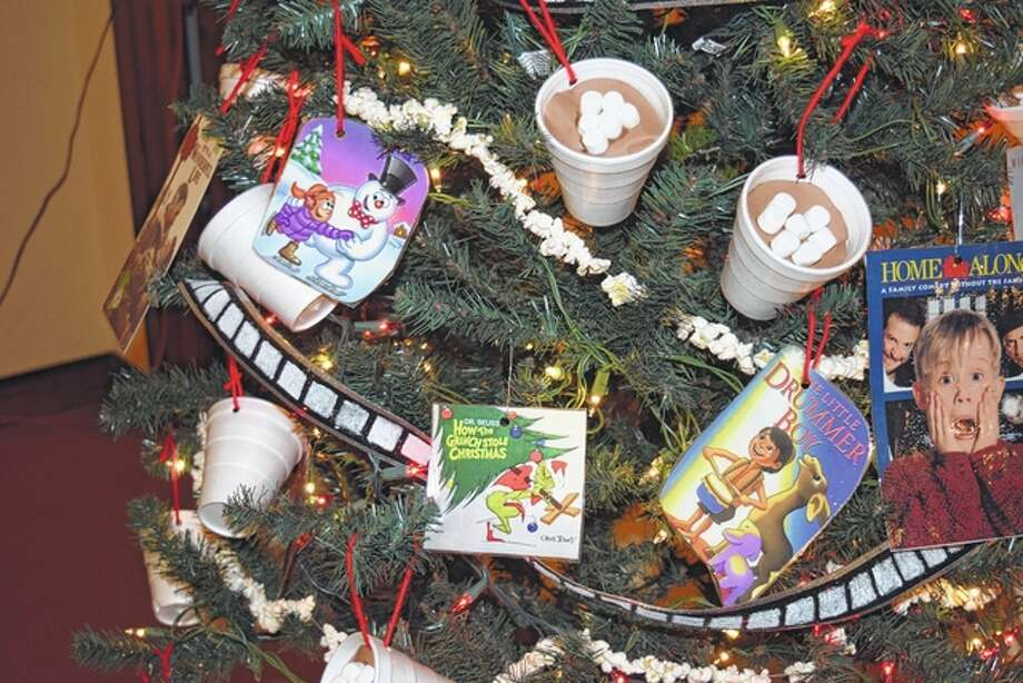 """Pathway School students designed this tree, titled """"Hot Chocolate and Movies,"""" for the Festival of Trees. Photo: Greg Olson 