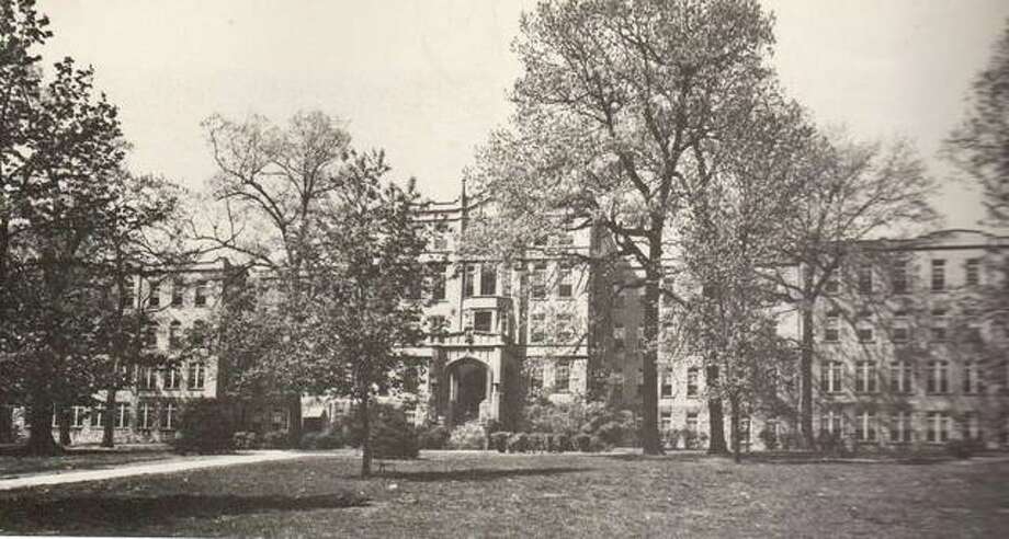 This structure was erected on the site of the former home of John Hayner at 1400 State St. for use by the Sisters of the Precious Blood, who cared for orphans at the home. The land was donated by Hayner for use as a Catholic Children's Home. The building could house more than 300 children at a time, and was equipped with classrooms, recreational space, playgrounds, and living quarters. The Diocese of Springfield now administers the home where care is provided for children and juveniles sent by various courts for instruction and minimal security. The home was visited by Nancy Reagan in 1984 on a campaign tour through the Alton area. Photo: File Photo