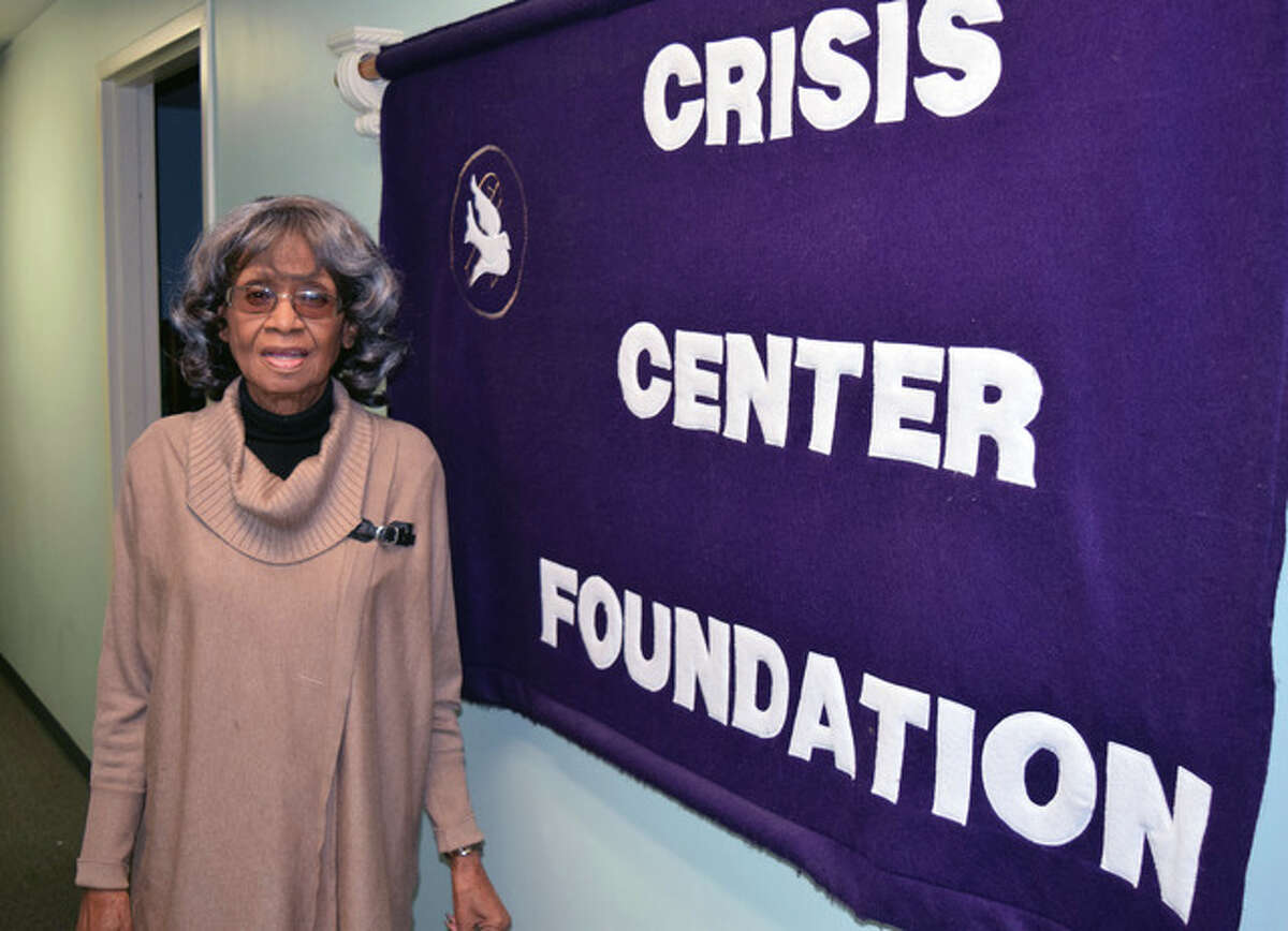 Alyce Ross, part-time legal advocate for the Crisis Center Foundation, stands in the center's office in Jacksonville.