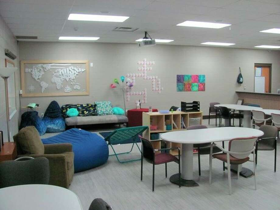 The teen room at the West Midland Family Center.