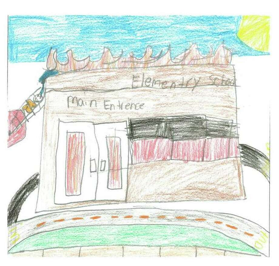 """""""Without water, firemen couldn't save buildings,"""" wrote Twanya Davis, a 5th Grader at East Elementary School in Alton, to accompany her winning submission for Illinois American Water's """"Imagine a Day Without Water"""" contest. Photo: For The Telegraph"""