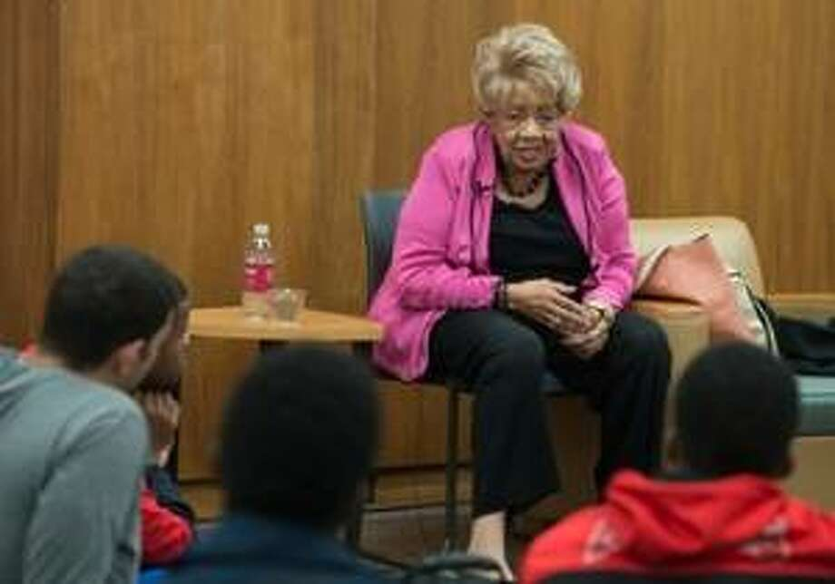 SIUE Emeritus Professor Johnetta Haley shares her life story with SIUE college students. Photo: For The Telegraph