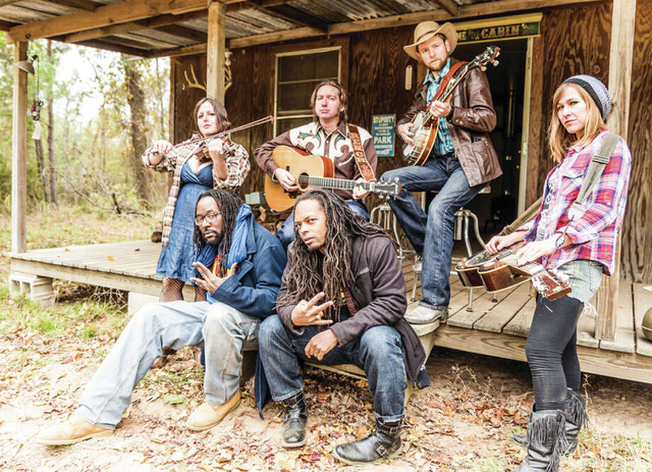 The bluegass-hip hop band Gangstagrass will be in concert Friday night at Playhouse on the Square in downtown Jacksonville. Members include Melody Berger (from left), R-Son the Voice of Reason, Rench, Dolio the Sleuth, Dan Whitener and Landry McMeans. Photo: Handout Photo
