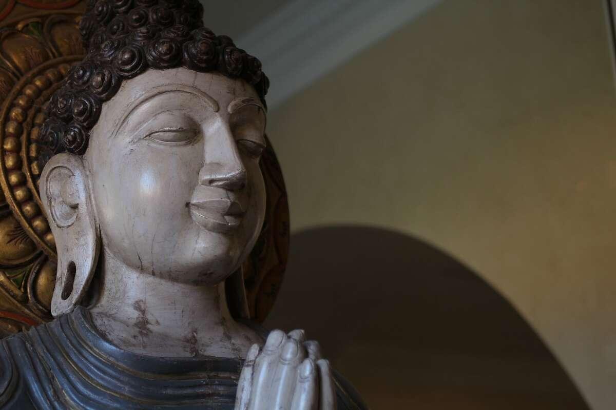 A statue of Buddha at Allegretto Vineyard Resort in Paso Robles.