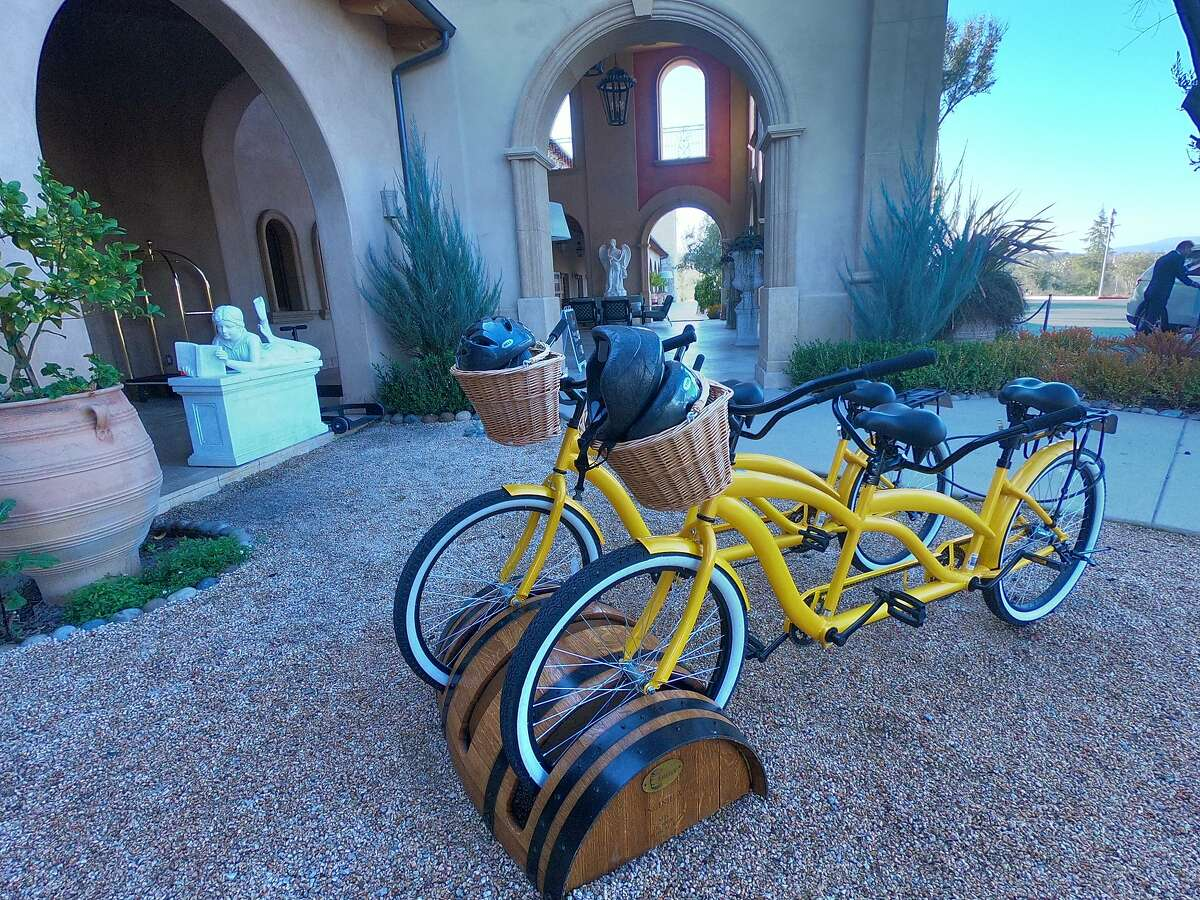 Tandem bikes available to guests at Allegretto Vineyard Resort in Paso Robles.