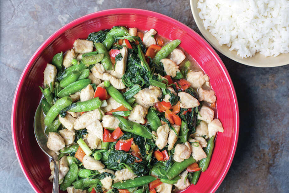 Chicken and vegetable stir fry fills several requirements in post-holiday food. It's warm, it's satisfying, but it's not too heavy after a season of over-indulgence. Photo: Sarah Crowder | Associated Press