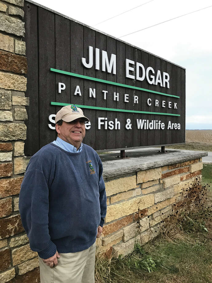 Photo provided Longtime Jim Edgar Panther Creek State Fish and Wildlife Area site superintendent Mike Wickens marked his first day of retirement Sunday.