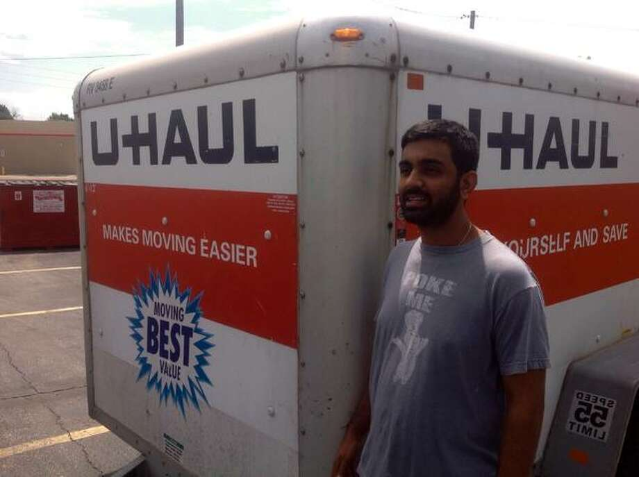 Corral Liquors partners Babubhai and Mrudul Patel are proud to team with the industry leader in do-it-yourself moving and self-storage to better meet the demands of Madison County, according to a U-Haul news release. U-Haul and Corral Liquors are striving to benefit the environment through sustainability initiatives. Truck sharing is a core U-Haul sustainability business practice that allows individuals to access a fleet of trucks that is larger than what they could access on an individual basis. Photo: For The Telegraph
