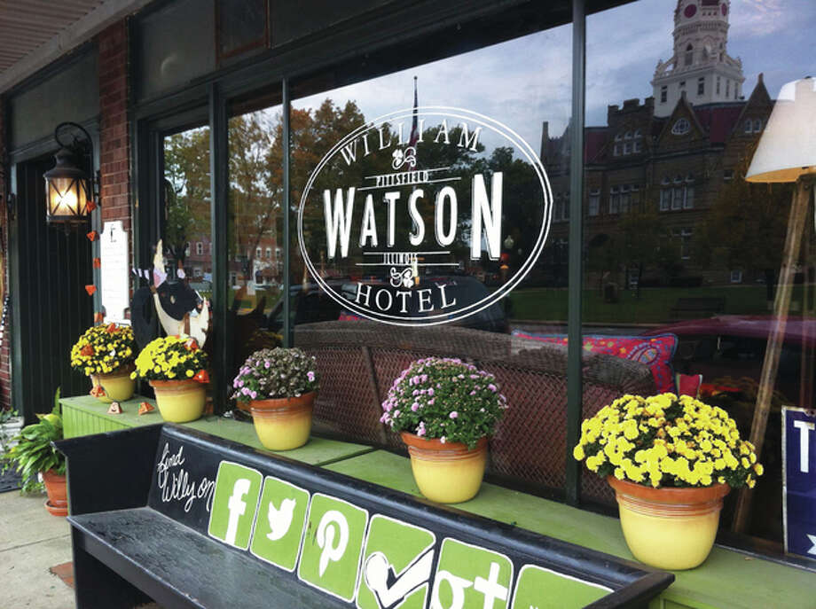 Outside the William Watson Hotel's windows, Pittsfield's town square centerpiece, the Pike County Courthouse, visitors can see majestic views of the existing courthouse finished in 1894.