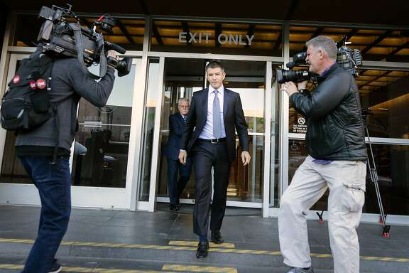 SAN FRANCISCO, CA - FEBRUARY 6: Former Uber CEO Travis Kalanick leaves the Philip Burton Federal Building after testifying on day two of the trial between Waymo and Uber Technologies on February 6, 2018 in San Francisco, California. Waymo, an autonomous car subsidiary owned by Google's parent company Alphabet, has accused Uber of theft of trade secrets relating to its self-driving vehicle development. Waymo alledges one of its former employees, Anthony Levandowski, illegally downloaded 14,000 confidential documents before leaving to start his own self-driving car company, Otto, which was acquired shortly thereafter by Uber for a reported $680 million. (Photo by Elijah Nouvelage/Getty Images)