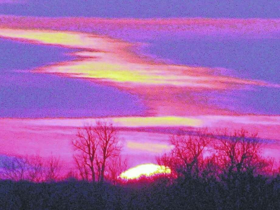 Although cold, January has provided some colorfully spectacular sunsets. Photo: Beverly Watkins | Reader Photo