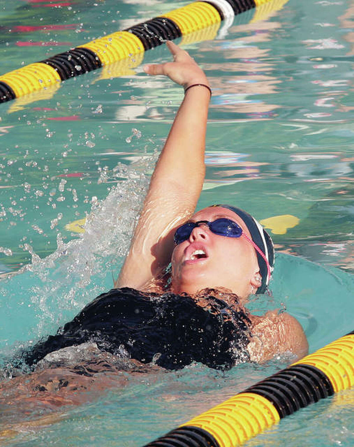 Lindsey Bruce of Alton High is the No. 4 seed in the 100-yard backstroke and the No. 3 seed in the 100 butterfly heading into Saturday's IHSA Sectional Meet in Edwardsville.