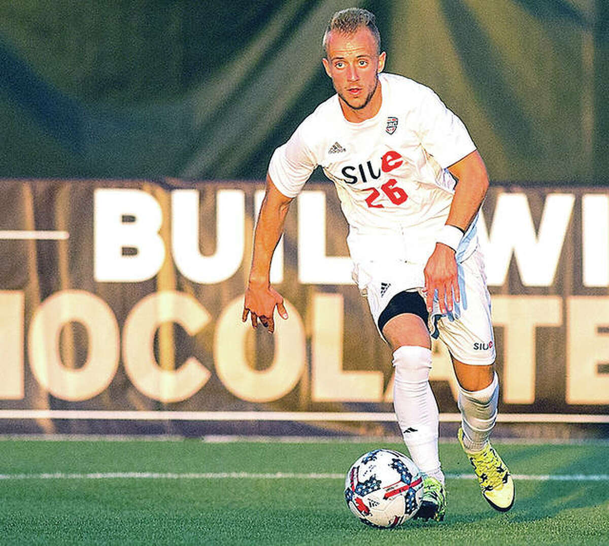 SIUE's Greg Solawa gave his team a 1-0 lead in Friday's MAC Tournament semifinal, but No. 7 Akron tied the the game with 15 seconds left in regulation and then scored in the second OT to grab a 2-1 victory.
