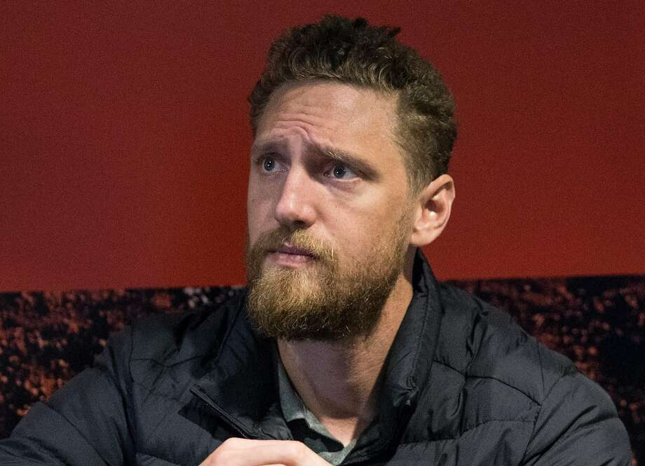 San Francisco Giants right fielder Hunter Pence speaks to reporters during media availability ahead of the San Francisco Giants FanFest at AT&T Park Friday, Feb. 9, 2018  in San Francisco, Calif. Photo: Jessica Christian, The Chronicle