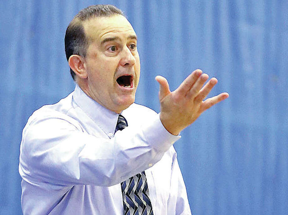 LCCC men's basketball coach coach Doug Stotler's team dropped a 93-57 decision to rival Southwestern Illinois College Wednesday night in Belleville. LCCC is 1-1 on the season and will play host to the MacMurray junior varsity at 6 p.m. Saturday at the Riverbend Arena. Photo: Telegraph File Photo