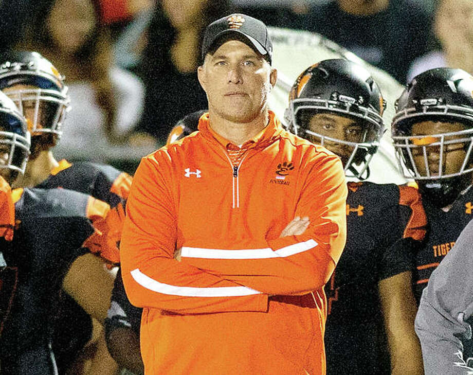 Edwardsville coach Matt Martin's team has rebounded from an 0-3 start with nine consecutive victories and a Class 8A semifinal berth. The Tigers will play Loyola Academy at 2 p.m. Saturday at the District 7 Sports Complex. Photo: Scott Kane   For The Telegraph
