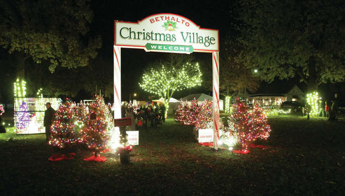 Volunteers are busy getting the Bethalto Christmas Village, a walk-through family attraction in Bethalto's Central Park, ready for the coming holiday season. It will open Nov. 24 in Bethalto's Central Park.