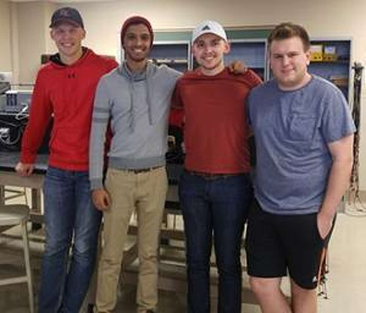 SIUE students Tyler Friedel, Justin Haque, Corwin Fritts and Kaleb Cole competed in the IEEE Black Box competition held at Missouri S&T.