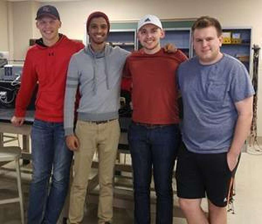 SIUE students Tyler Friedel, Justin Haque, Corwin Fritts and Kaleb Cole competed in the IEEE Black Box competition held at Missouri S&T. Photo: For The Telegraph