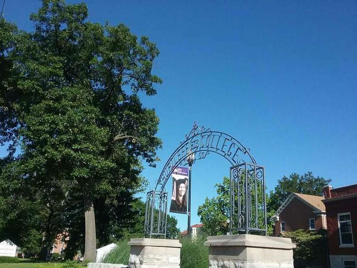 While the banner in the background notes that the Southern Illinois University School of Dental Medicine at 2800 College Ave. in Alton will soon graduate another class, the memorial gateway in the foreground serves as a reminder that this was the site of Shurtleff College from 1832 to 1957. The gate was erected by the Shurtleff College class of 1950. Shurtleff in 1950 had 700 students, which was the highest enrollment in its history. That year's graduating class numbered 99, yet another all-time high for the school.
