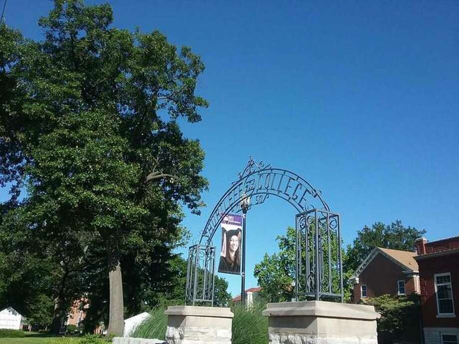 While the banner in the background notes that the Southern Illinois University School of Dental Medicine at 2800 College Ave. in Alton will soon graduate another class, the memorial gateway in the foreground serves as a reminder that this was the site of Shurtleff College from 1832 to 1957. The gate was erected by the Shurtleff College class of 1950. Shurtleff in 1950 had 700 students, which was the highest enrollment in its history. That year's graduating class numbered 99, yet another all-time high for the school. Photo: John J. Dunphy | For The Telegraph