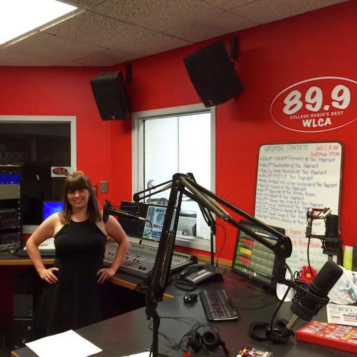 Amanda Valentine visits the WLCA Studio during a reunion held on L&C's Godfrey Campus in July 2016.