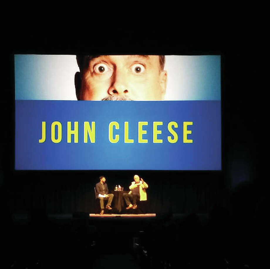"John Cleese talks about the film and his career following a screening of ""Monty Python and the Holy Grail"" at the Peabody Opera House in St. Louis. Photo: Steve Whitworth