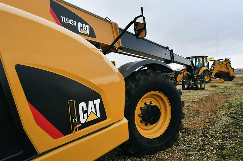 Ron Johnson | Journal Star (AP) Caterpillar equipment is displayed at industrial equipment supplier Altorfer Inc. in East Peoria. Caterpillar announced Tuesday that it is moving its headquarters to the Chicago area and won't build a new complex in its Peoria location.