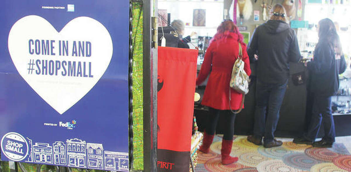 Riverbend shoppers pay for items during last year's Small Business Saturday event.
