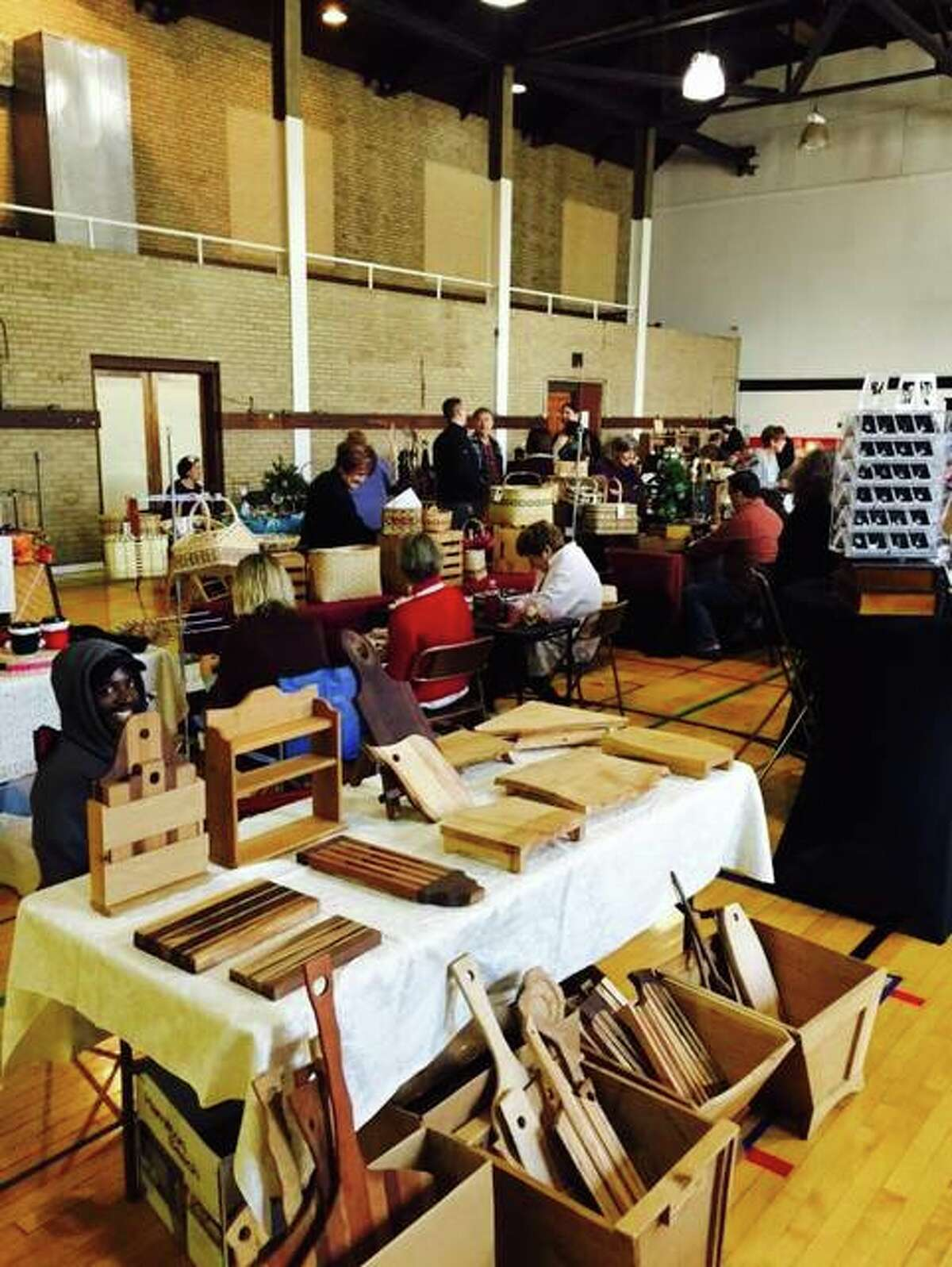 Hand-carved wooden wares on display at last year's Green Gift Bazaar.