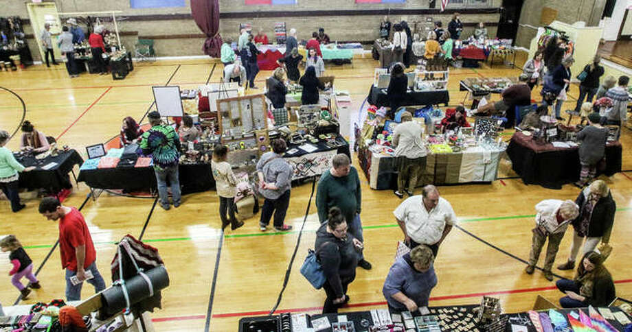 More than 40 vendors filled the Alton YWCA Saturday for the Green Gift Bazaar. Photo: Photos By Nathan Woodside | For The Telegraph