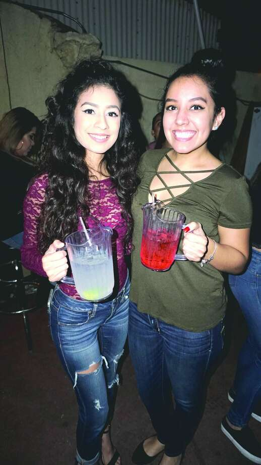 Laura Villarreal and Jessica Alvarado at The Happy Hour Downtown BarFriday, February 9, 2018 Photo: Jose Gustavo Morales