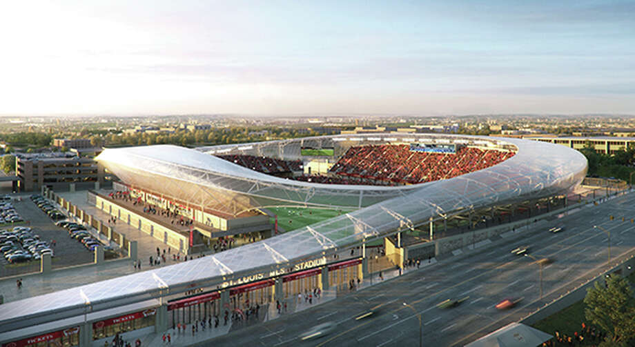 An architect's view of the proposed soccer stadium planned for downtown St. Louis near Union Station. In April, St. Louis voters rejected a use tax on businesses to help fund the stadium and the city's once-promising MLS expansion bid essentially died. Monday, it was made official when MLS announced the four finalists for the league's next two teams. st. louis was not on the list. Photo: File Photo