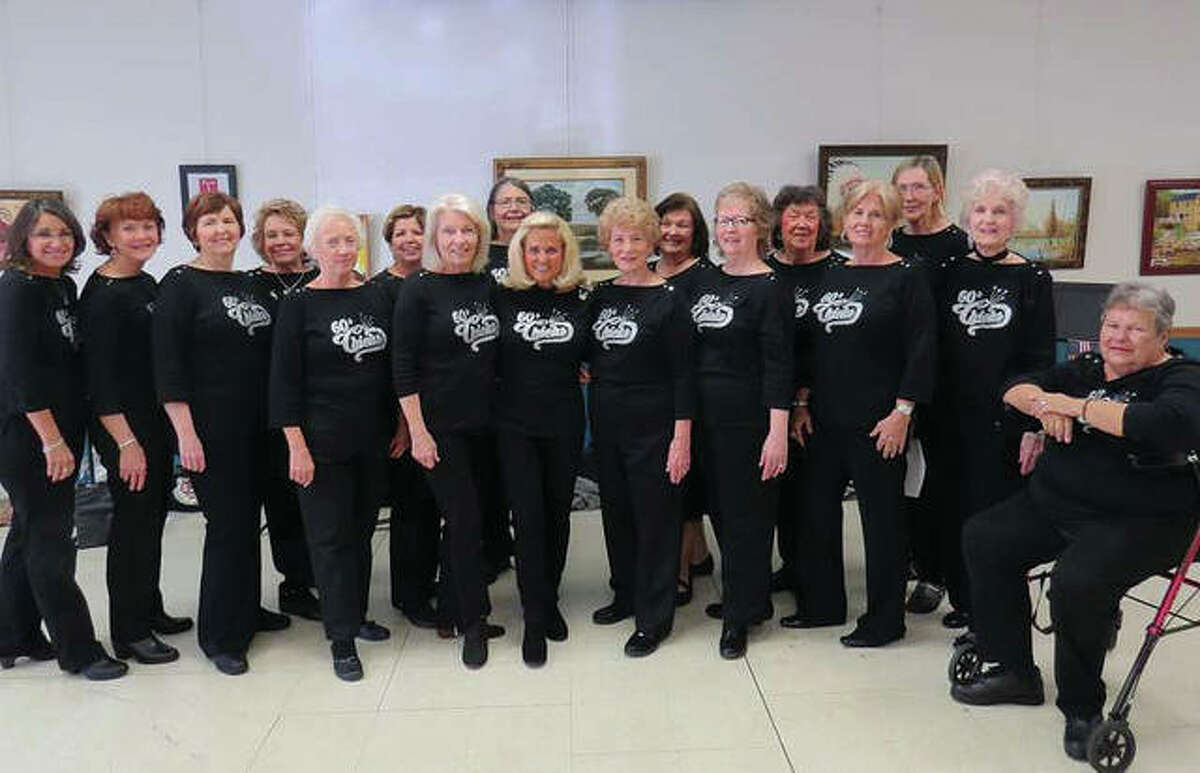 The '60s Chicks, formed by chorus member Rebecca Biethman, with support from the YMCA, more than two years ago. The 23-member exclusively women's singing group is open to all women, with no auditions and no age restrictions. Contact Edwardsville's Esic Center YMCA for more information or how to get involved.