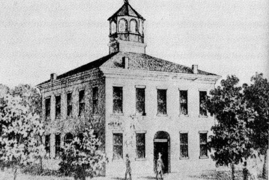 "This is a sketch of Morgan County's second courthouse, which stood on the Jacksonville square from 1830 to 1869. Photo: ""The People Of Jacksonville: A Pictorial History"""