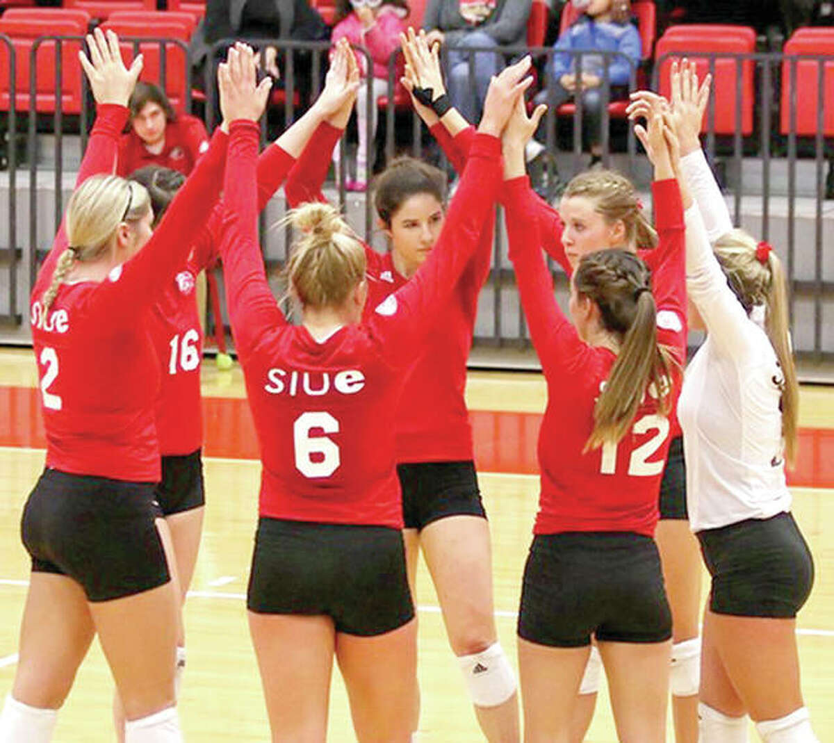 The SIUE volleyball team was ousted from the National Invitational Volleyball Championship by Arkansas 25-21, 28-30, 29-27, 27-25 Wednesday at Ole Miss.