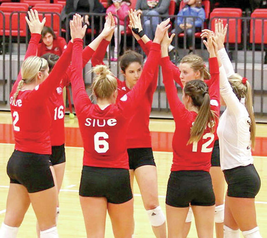 The SIUE volleyball team was ousted from the National Invitational Volleyball Championship by Arkansas 25-21, 28-30, 29-27, 27-25 Wednesday at Ole Miss. Photo: SIUE Athletics
