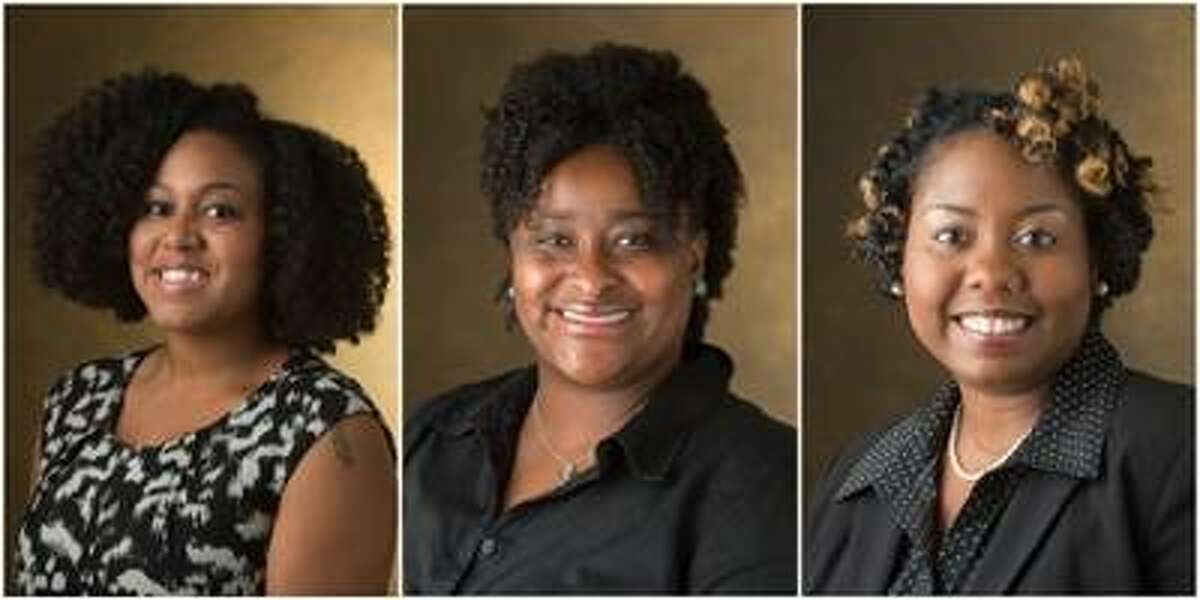 (L-R) SIUE's Arielle Weaver, Kalisha Turner, EdD, and Makesha Harris facilitate the Sister Circle Program, which achieved the 2017 GLACUHO Outstanding Project Award.