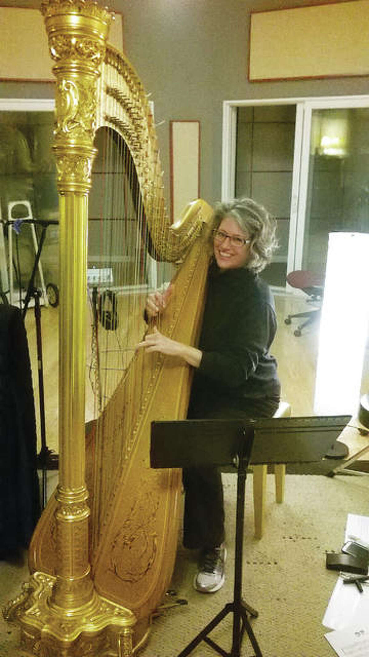 """For The Telegraph Spiritual harpist Amy Camie recently released her CD, """"Embracing the Spirit of Christmas."""""""