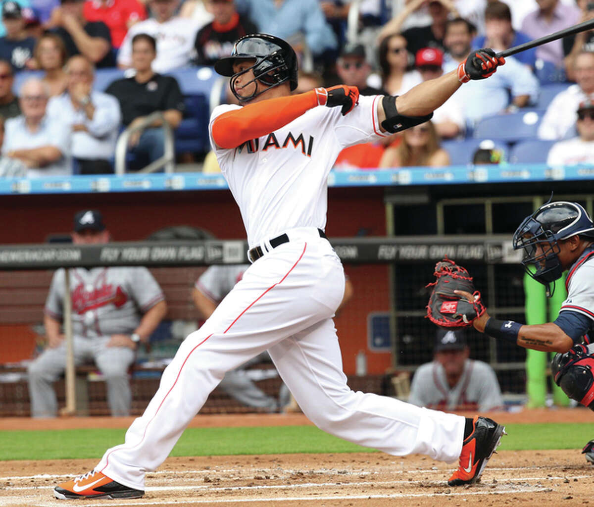 Marlins right fielder Giancarlo Stanton, the reigning National League MVP, Friday declined to waive his no-trade clause that would have finalized a trade sending him to the Cardinals.