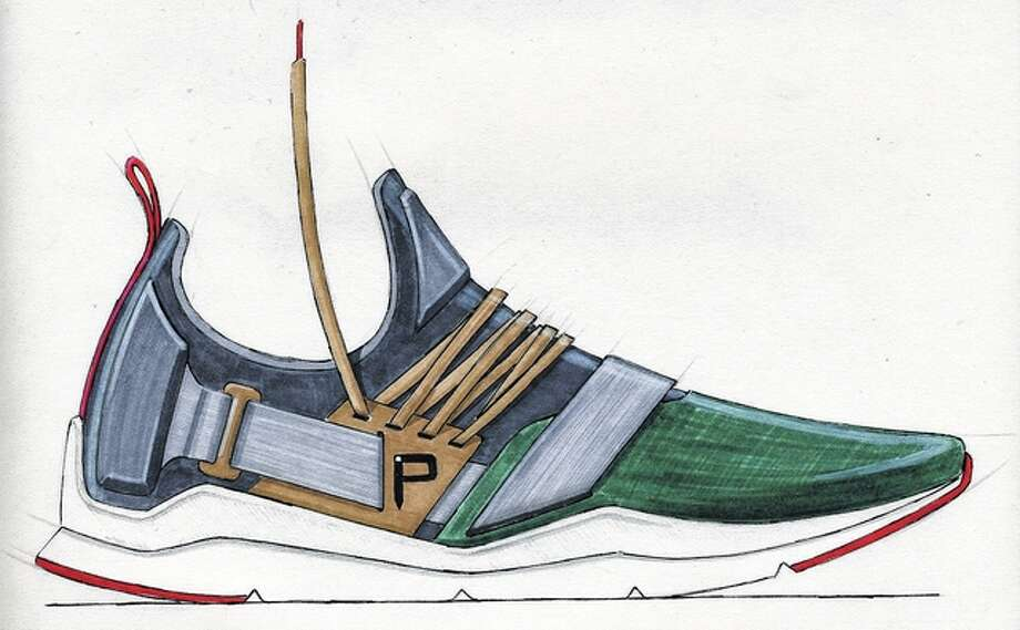 Quin Fernandes' shoe design has been entered in the Pensole World Sneaker Championship. Photo: Photo Provided