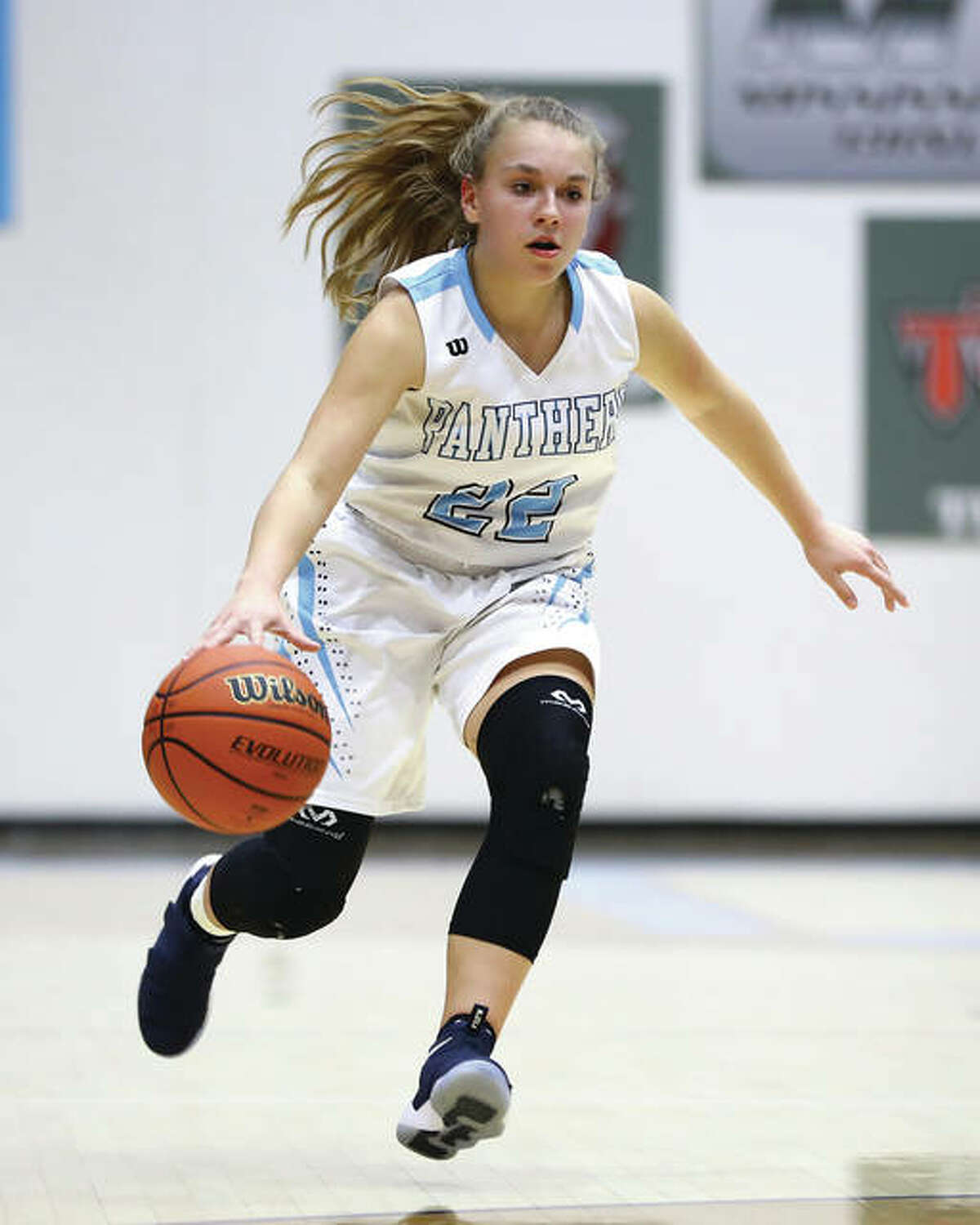 Jersey's Clare Breden scored 22 points in the Panthers' MVC win over Triad on Thursday night in Jerseyville.